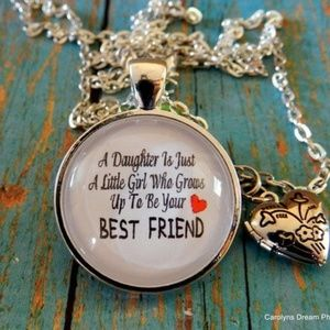 Jewelry - A Daughter Is Just A Little Girl Dome Necklace